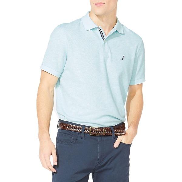 ナウティカ メンズ シャツ トップス Classic-Fit Solid Deck Polo Shirt Waterslide Heather