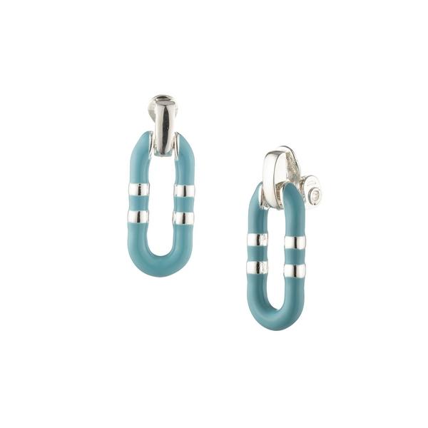 ラルフローレン レディース ピアス&イヤリング アクセサリー Silvertone Hoop Earrings Turquoise