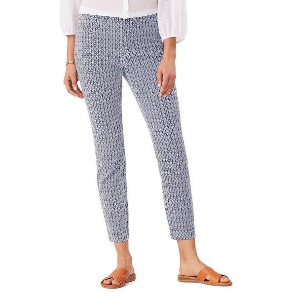 トッミーバハマ レディース カジュアルパンツ ボトムス Geometric-Print Cotton-Blend Cropped Pants Island Navy