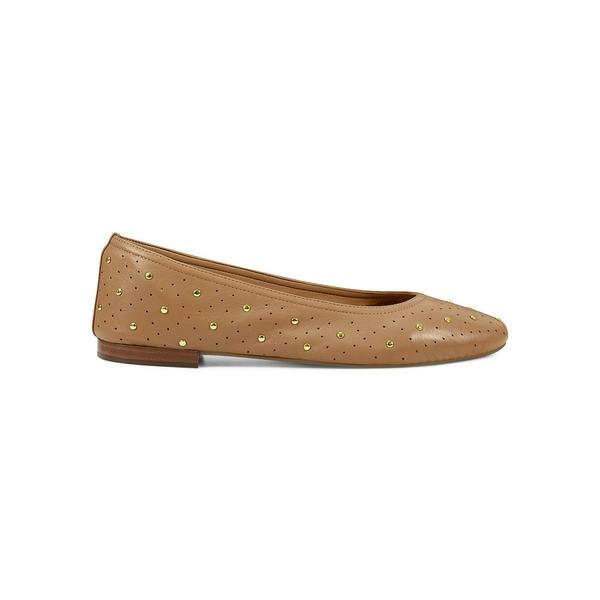 エアロソールズ レディース サンダル シューズ Shelley Studded Leather Flats Tan