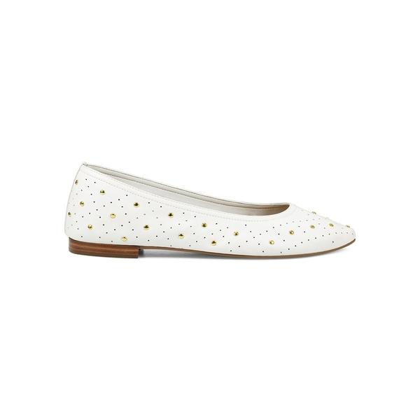 エアロソールズ レディース サンダル シューズ Shelley Studded Leather Flats White