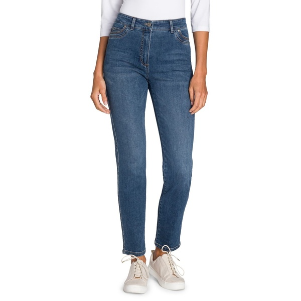 オルセン レディース デニムパンツ ボトムス Utility Chic Mona Slim Jeans Blue Denim