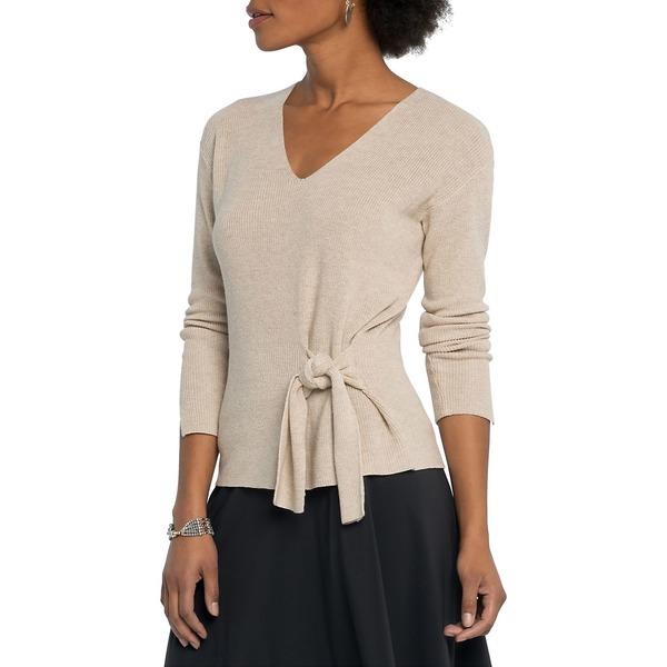 ニックプラスゾーイ レディース ニット&セーター アウター Flaunt Tie Cotton-Blend Sweater Beechwood