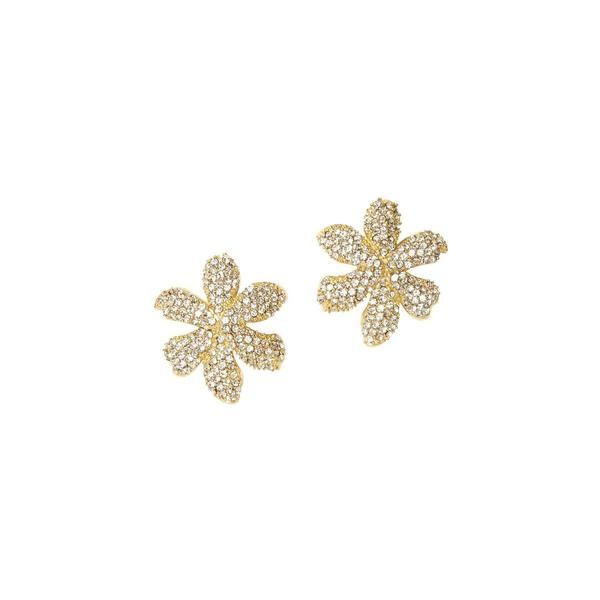 ヴィンスカムート レディース ピアス&イヤリング アクセサリー Goldtone & Crystal Flower Stud Earrings Gold
