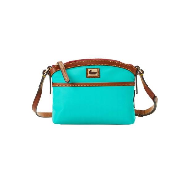 ドーネイアンドバーク レディース ハンドバッグ バッグ Mini Domed Nylon Crossbody Bag Aqua