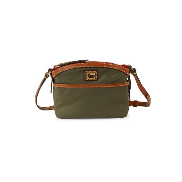 ドーネイアンドバーク レディース ハンドバッグ バッグ Mini Domed Nylon Crossbody Bag Olive