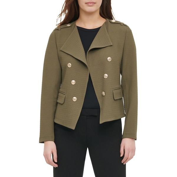 カルバンクライン レディース コート アウター Textured Open-Front Jacket Caper
