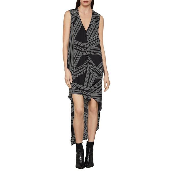 ビーシービージーマックスアズリア レディース ワンピース トップス Optic Georgette High-Low Dress Black