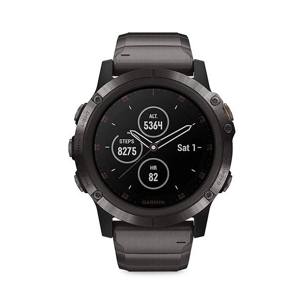 ガーミン レディース 腕時計 アクセサリー Fenix 5X Plus Bracelet Smart Watch Black