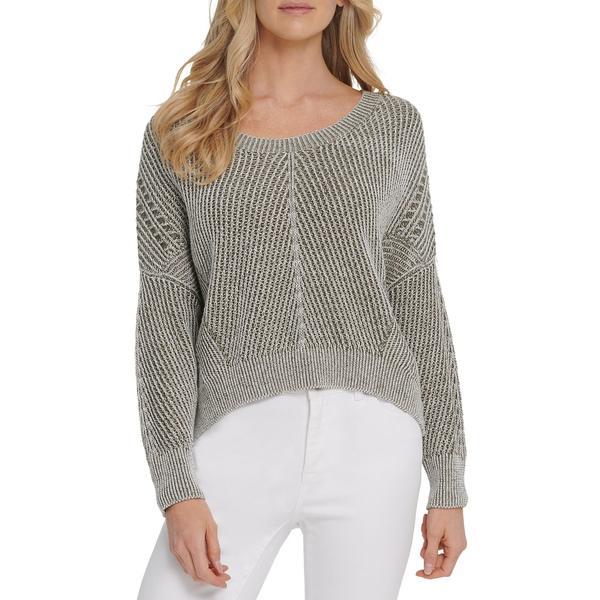 ダナキャランニューヨーク レディース ニット&セーター アウター Ribbed Cotton-Blend Sweater Army Green
