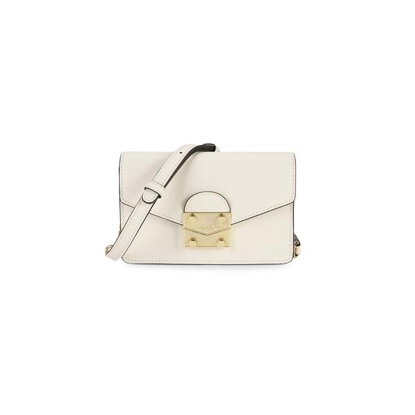 カールラガーフェルド レディース ショルダーバッグ バッグ Corinne Faux Leather Crossbody Bag Winter White