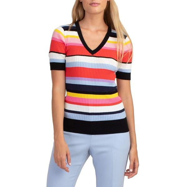 トリーナターク レディース ニット&セーター アウター Laurel Striped Cotton Sweater Multi