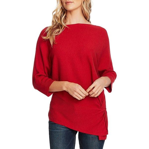 ヴィンスカムート レディース ニット&セーター アウター Dolman-Sleeve Cotton-Blend Sweater Rhubarb