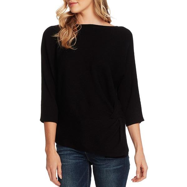 ヴィンスカムート レディース ニット&セーター アウター Dolman-Sleeve Cotton-Blend Sweater Rich Black