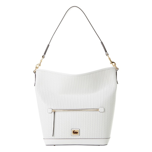 ドーネイアンドバーク レディース ショルダーバッグ バッグ Camden Textured Leather Hobo Bag White