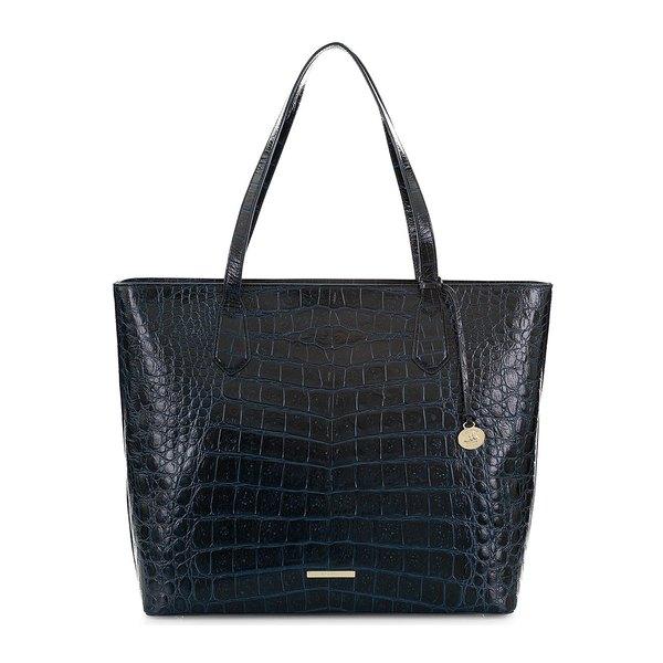 ブランミン レディース トートバッグ バッグ Black Veil Misha Leather Tote Blue Bonnet