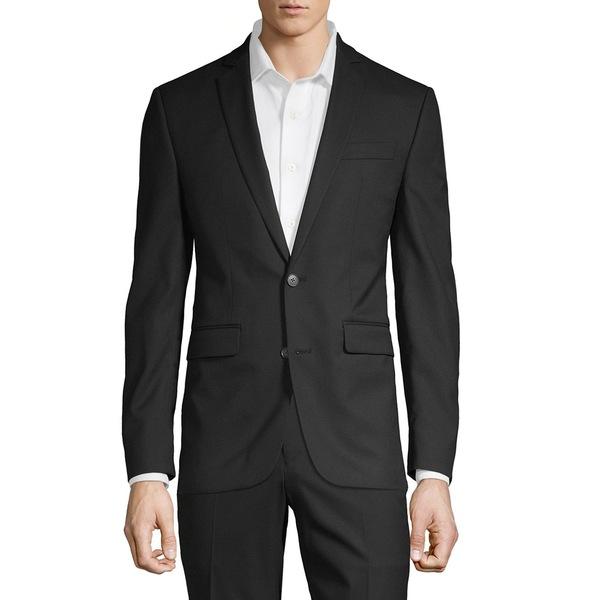 1670 メンズ ジャケット&ブルゾン アウター Solid-Tone Suit Separate Jacket Black