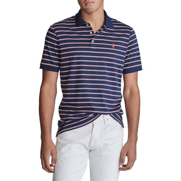 ラルフローレン メンズ シャツ トップス Classic-Fit Interlock Striped Cotton Polo French Navy