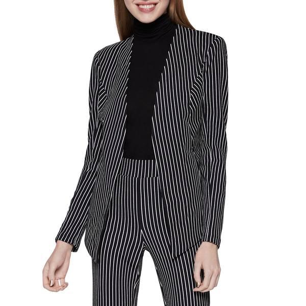 BCBジェネレーション レディース コート アウター Pinstriped Velvet Blazer Black