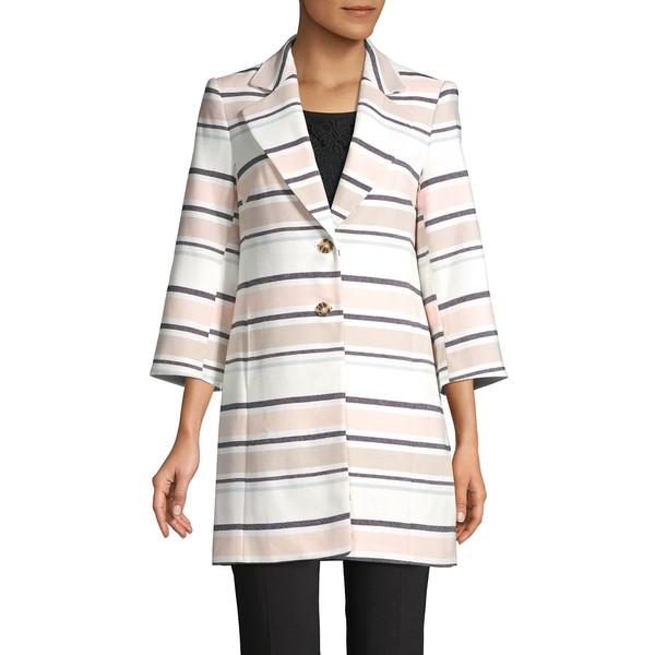カールラガーフェルド レディース コート アウター Striped Cotton Jacket Soft White Multi