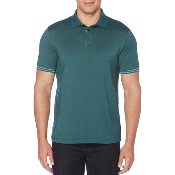 ペリーエリス メンズ シャツ トップス Icon Polo Shirt Mediterranean