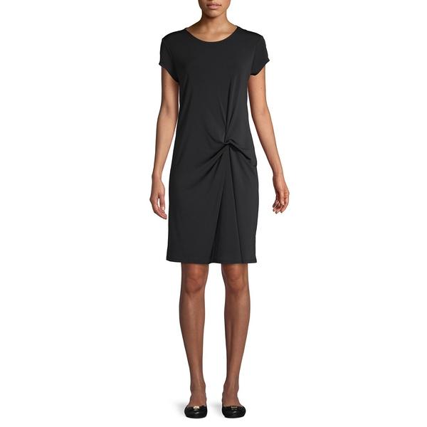 ホルストンヘリテイジ レディース ワンピース トップス Short-Sleeve Twist Front Dress Black