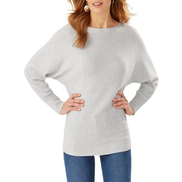 トッミーバハマ レディース ニット&セーター アウター Bonita Dolman-Sleeve Cotton-Sleeve Sweater Grey Pearl
