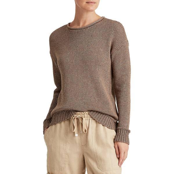 ラルフローレン レディース ニット&セーター アウター Relaxed-Fit Cotton-Blend Sweater Gold