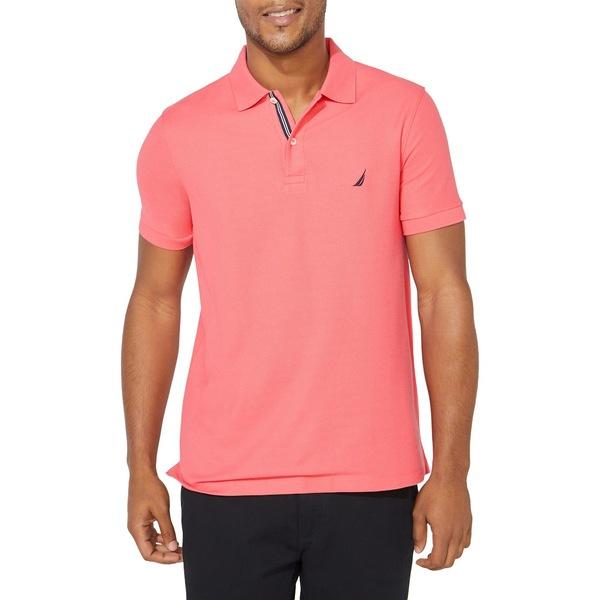 ナウティカ メンズ シャツ トップス Slim-Fit Cotton-Blend Polo Paradise Pink
