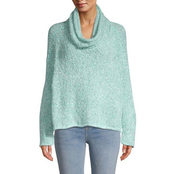 フリーピープル レディース ニット&セーター アウター BFF Cowlneck Sweater Aqua Star
