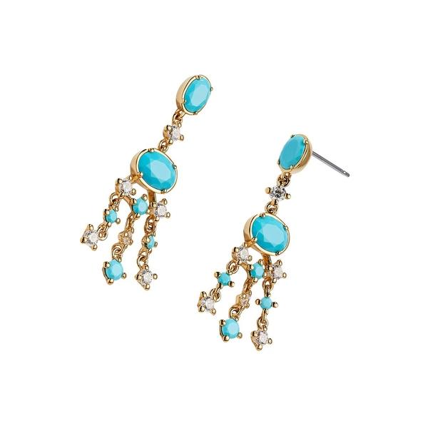 ナディール レディース ピアス&イヤリング アクセサリー Crystal Chandilier Earrings Gold