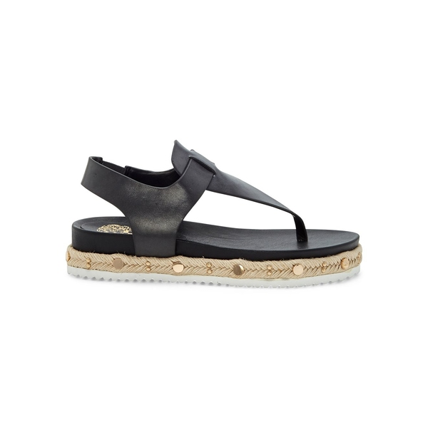 ヴィンスカムート レディース サンダル シューズ Aeronta Leather Thong Sandals Black