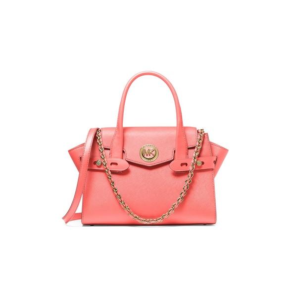マイケルコース レディース ハンドバッグ バッグ Carmen Small Leather Satchel Pink Grapefruit