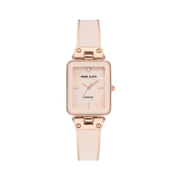 アンクライン レディース 腕時計 アクセサリー Rose Goldtone & Diamond Bangle Bracelet Watch Pink