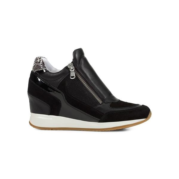 ジェオックス レディース スニーカー シューズ Nydame Leather Sneakers Black