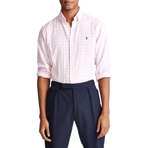 ラルフローレン メンズ シャツ トップス Classic Fit Gingham Shirt Pink White