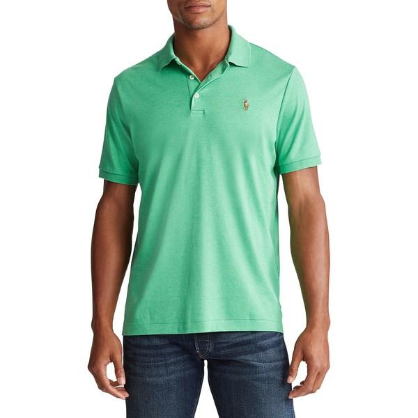 ラルフローレン メンズ シャツ トップス Classic-Fit Soft Cotton Polo Palm Green Heather