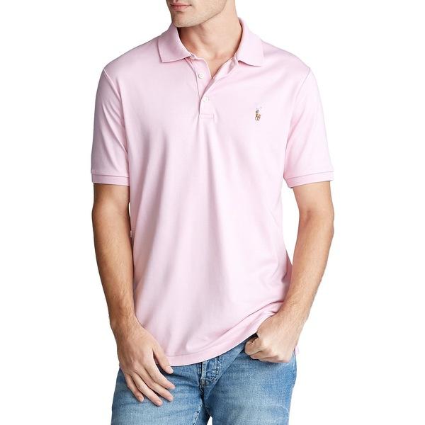 ラルフローレン メンズ シャツ トップス Classic-Fit Soft Cotton Polo Garden Pink