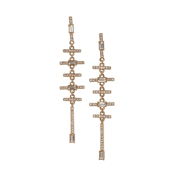 ヴィンスカムート レディース ピアス&イヤリング アクセサリー Goldtone & Crystal Drop Earrings Gold