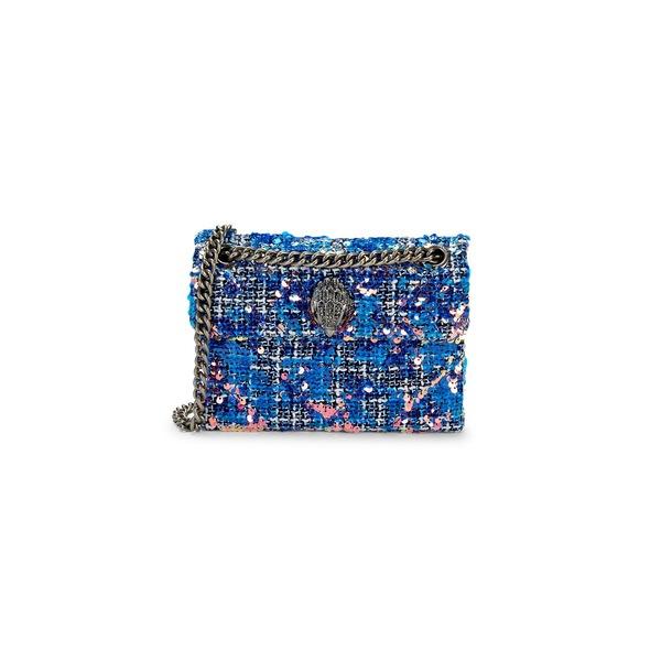 カートジェイガーロンドン レディース ショルダーバッグ バッグ Tweed & Sequin Crossbody Bag Bright Blue