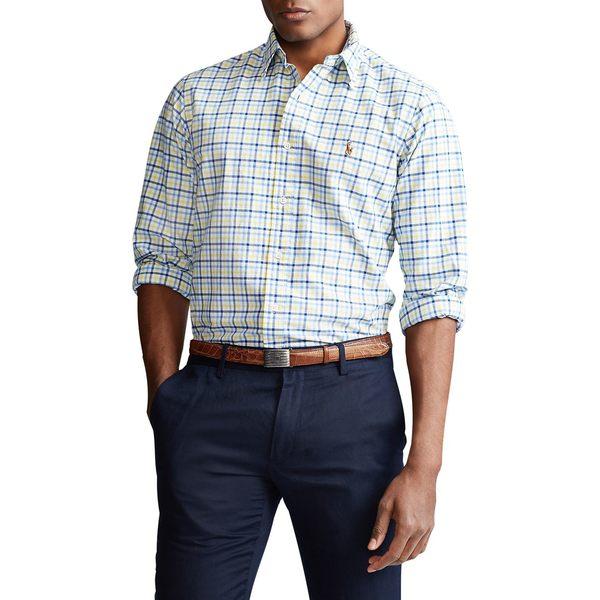 ラルフローレン メンズ シャツ トップス Classic-Fit Plaid Long-Sleeve Shirt Yellow Navy