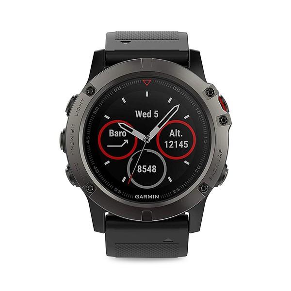 ガーミン レディース 腕時計 アクセサリー Fenix 5 Stainless Steel Silicone-Strap Smart Watch Black