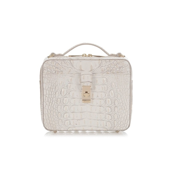ブランミン レディース ハンドバッグ バッグ Melbourne Evie Leather Crossbody Bag Pearl