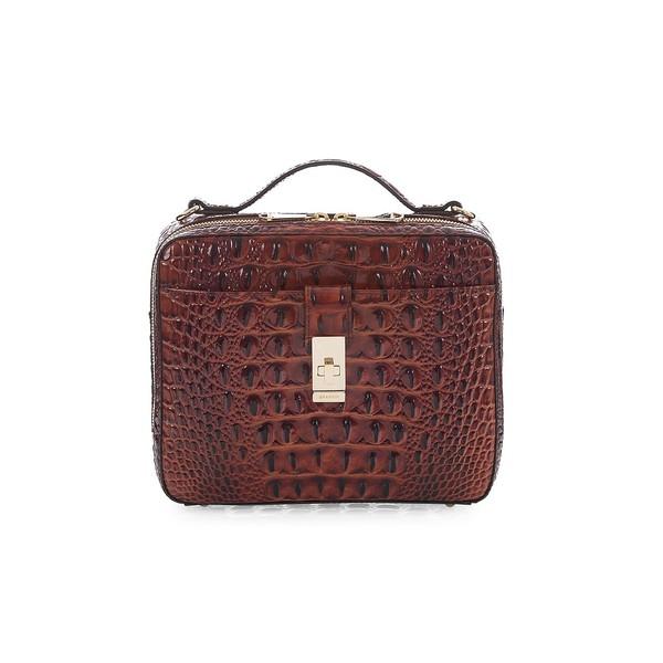 ブランミン レディース ハンドバッグ バッグ Melbourne Evie Leather Crossbody Bag Pecan