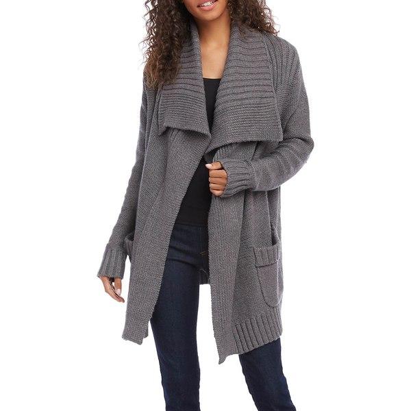 カレンケーン レディース ニット&セーター アウター Knitted Mid-Length Cardigan Sweater Heather Grey