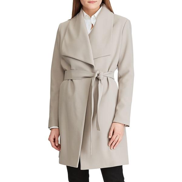 ラルフローレン レディース コート アウター Shawl-Collar Belt Crepe Coat Cork