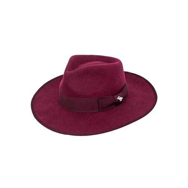 ピーターグリム レディース 帽子 アクセサリー Bow Wool Fedora Burgundy