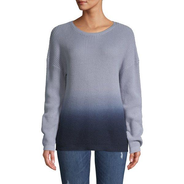 ティー・タハリ レディース ニット&セーター アウター Dip Dye Cashmere-Blend Crewneck Sweater Blue