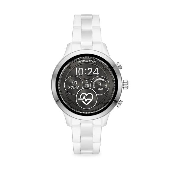 マイケルコース レディース 腕時計 アクセサリー Runway Stainless Steel Touchscreen Smart Watch White