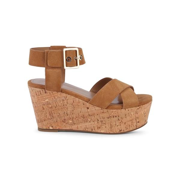 マーク・フィッシャー レディース サンダル シューズ Cacie Leather Platform Wedge Sandals Mink